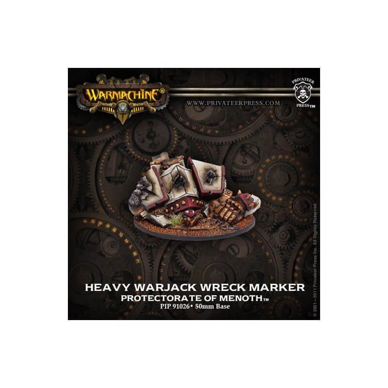 Protectorat de Menoth, marqueur épave de Warjack Lourd