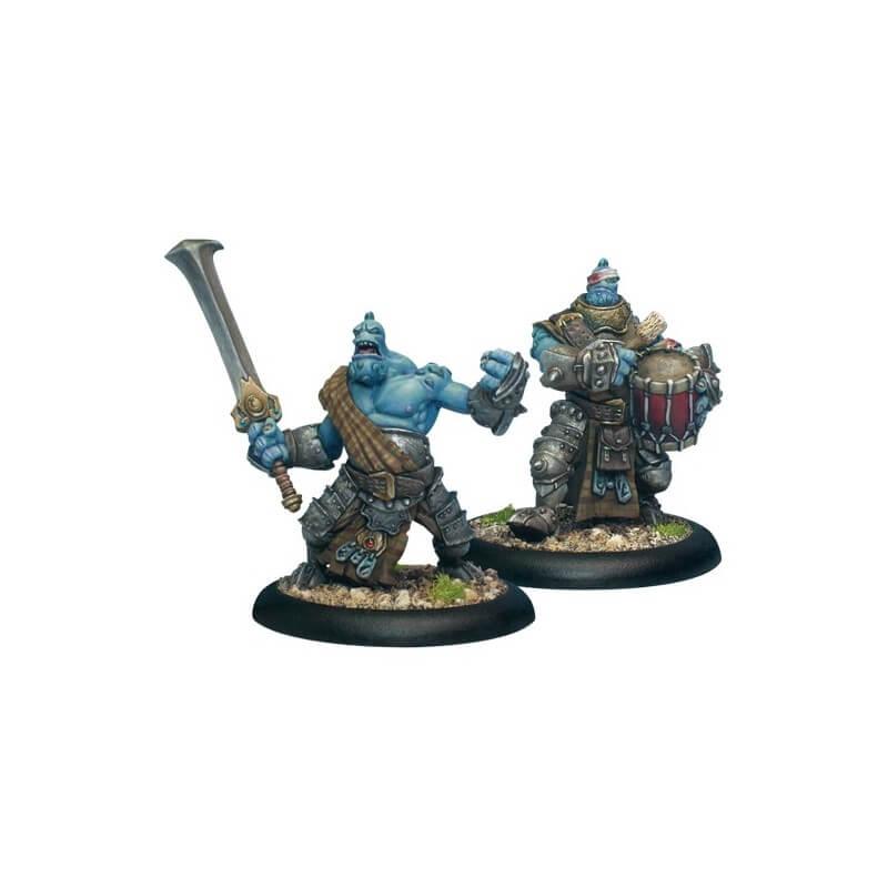 Trollkin Fennblade Officer & Drummer
