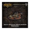 Mercenaires, marqueur épave de Warjack Lourd