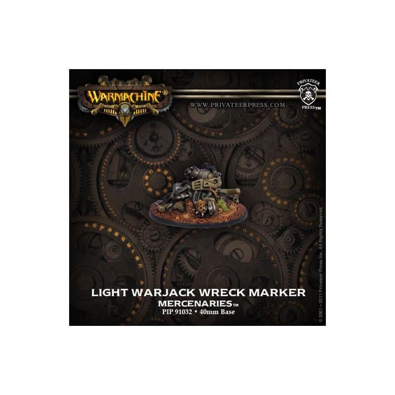 Mercenaires, marqueur épave de Warjack Léger