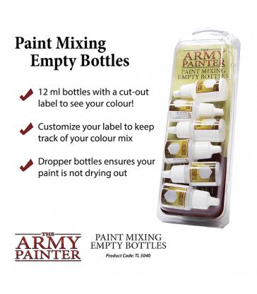 Paint Mixing Empty Bottles ( Bouteilles vides pour mélange des peintures )