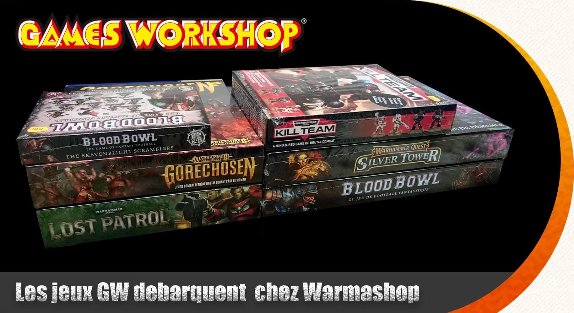 Games workshop jeux spécialsites